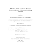 A nested frailty model for bivariate recurrent events: a poisson modelling approach