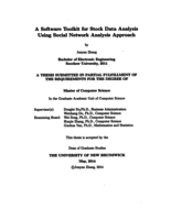A software toolkit for stock data analysis using social network analysis approach