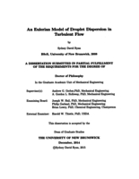 An Eulerian model of droplet dispersion in turbulent flow
