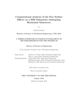 Computational analysis of the free surface effects on a BB2 submarine undergoing horizontal maneuvers