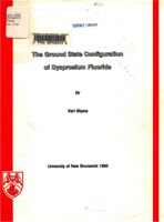 The ground state configuration of dysprosium fluoride