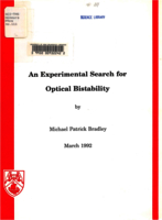 An experimental search for optical bistability
