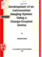 Development of an astronomical imaging system using a charge-coupled device