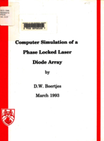 Computer simulation of a phase locked laser diode array