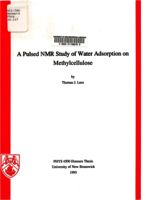 pulsed NMR study of water adsorption on methylcellulose