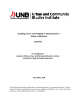 Studying School Sustainability in New Brunswick – Policy and Practice: Overview