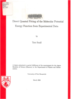 Direct quantal fitting of the molecular potential energy function from experimental data