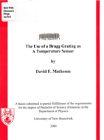 The use of a Bragg grating as a temperature sensor