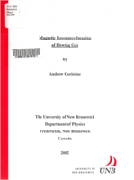 Magnetic resonance imaging of flowing gas