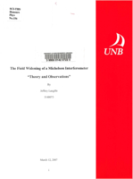 The field widening of a Michelson interferometer theory and observations