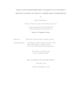 Application of reinforcement learning to autonomous aircraft in partially observable environments