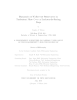 Dynamics of coherent structures in turbulent flow over a backwards-facing step