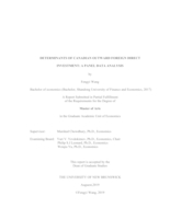 Determinants of Canadian outward foreign direct investment